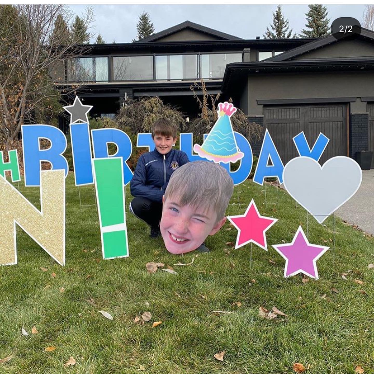 Big Head Birthday Lawn Greeting Calgary