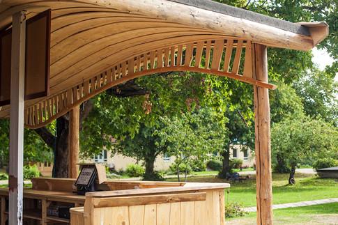 Wood work - outdoor counter