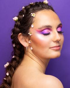 Flower-makeup-braid-look-course-netherla