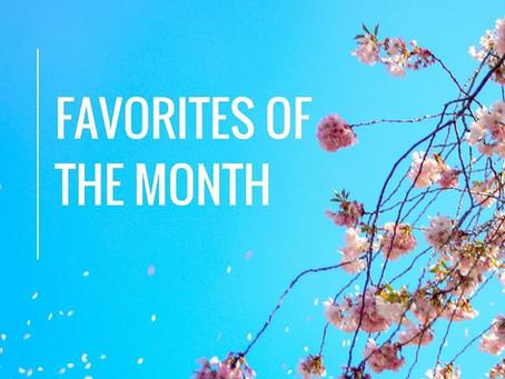 Productos favoritos del mes. Mayo.