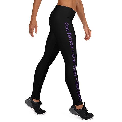 Leggings - Black/Purple - Venus Rising