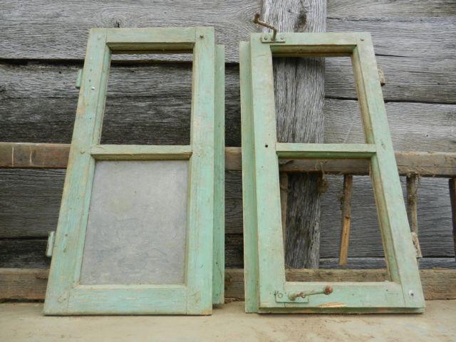 Pair of vintage windows