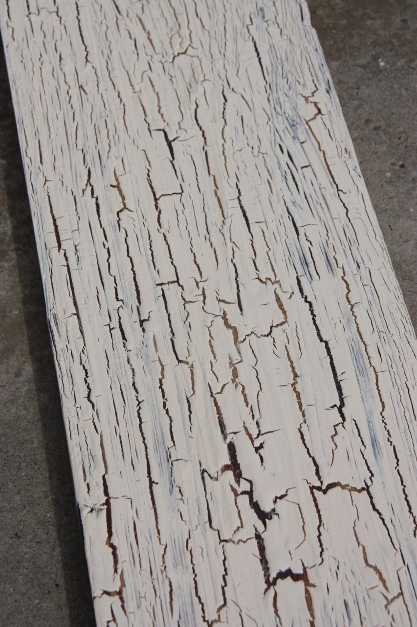 Limewashed Crackle Glazed Wood