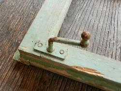 Old window lock detail