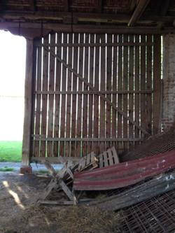 Large old barn door