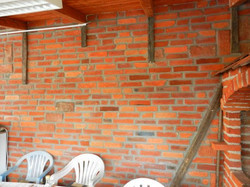 BBQ eating area tile installation