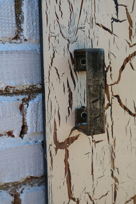 Crackled Pine Sliding Barn Door