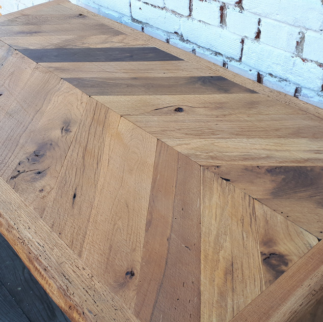Chevron Oak Table