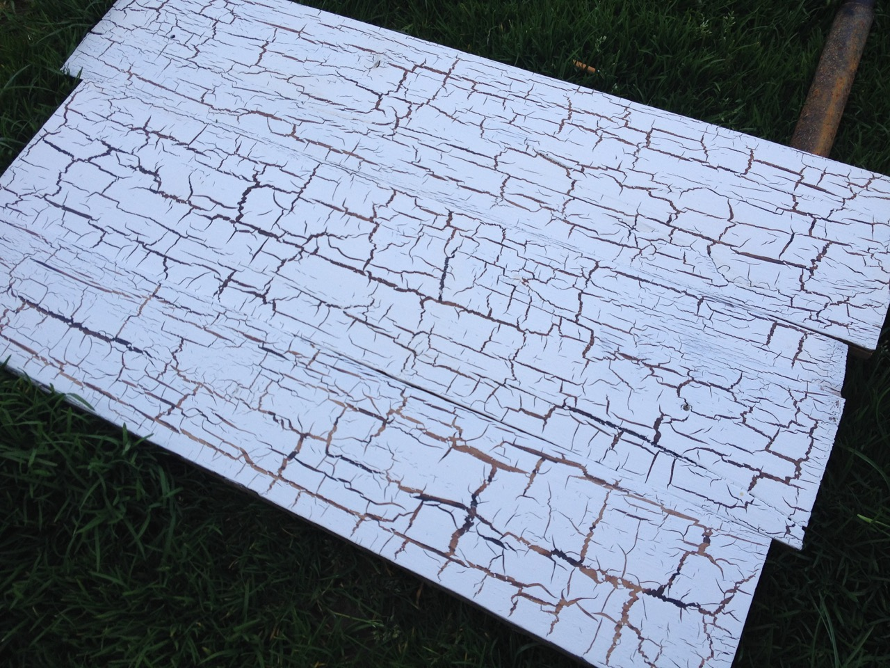 White Crackle Glazed Wood