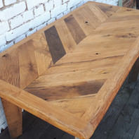 Chevron Oak Table