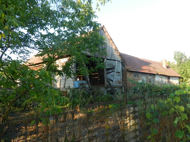 Old barn and house