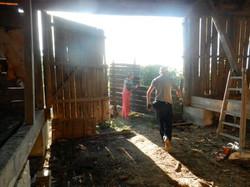 Carrying the barn door