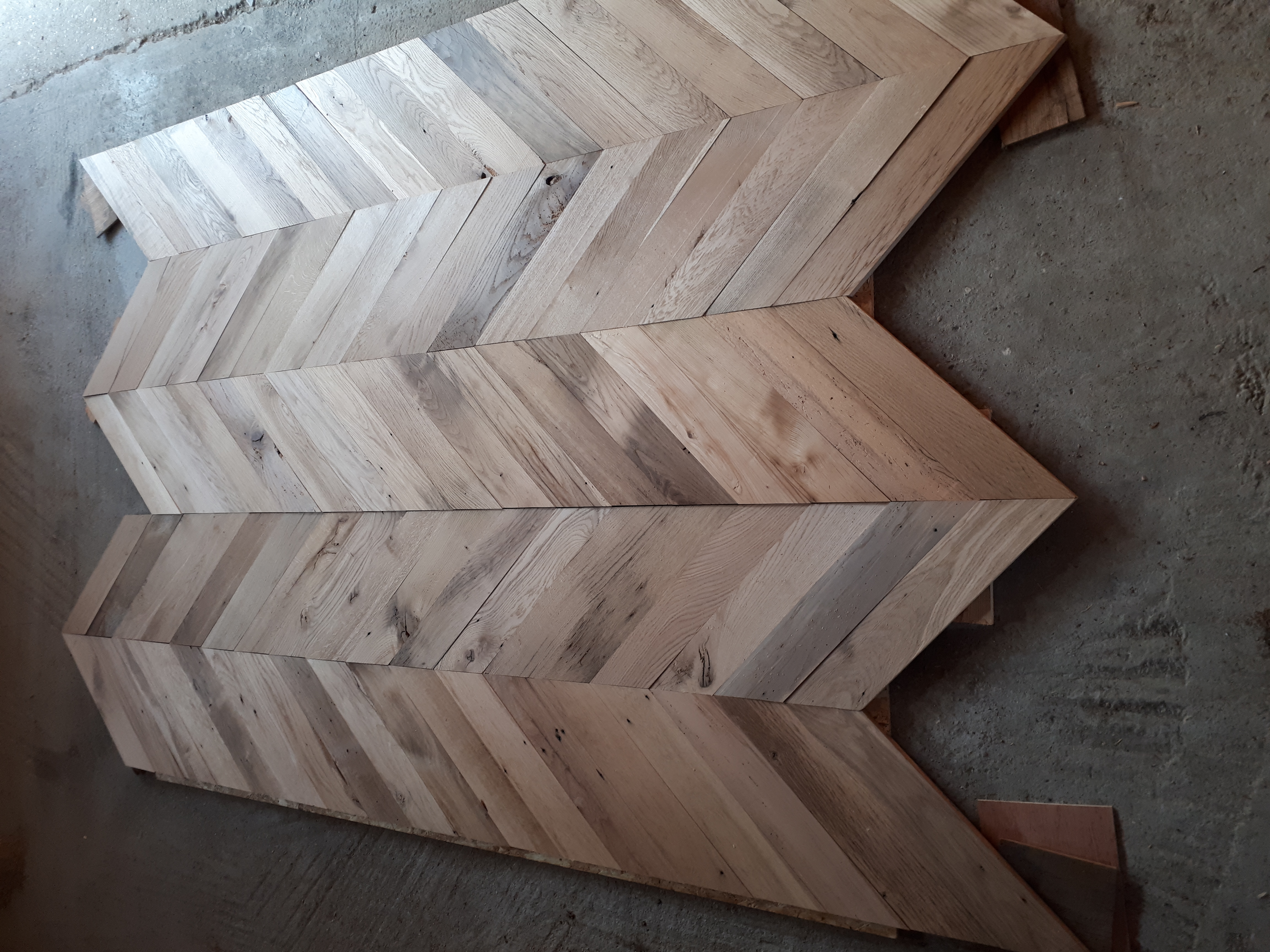 Chevron Oak flooring