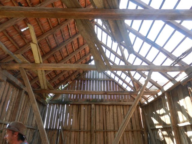Old barn beam structure
