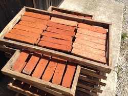 Brick Tiles drying in the sun