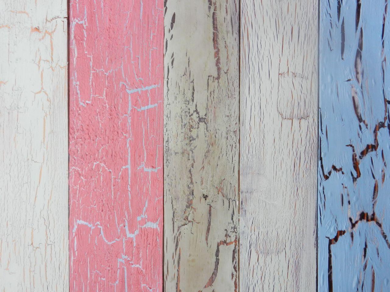 2 Colour Crackle Glazed wood