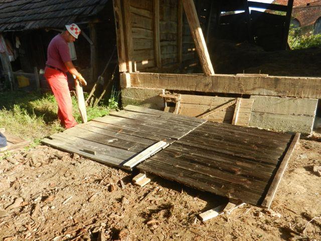 Barn door taken down