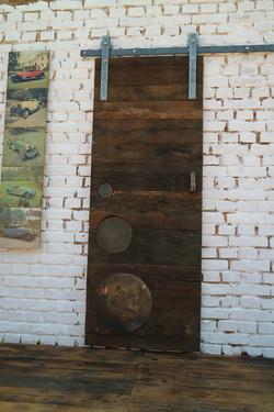 Weathered Oak Barn Sliding Door