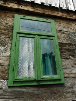 Old Green Window