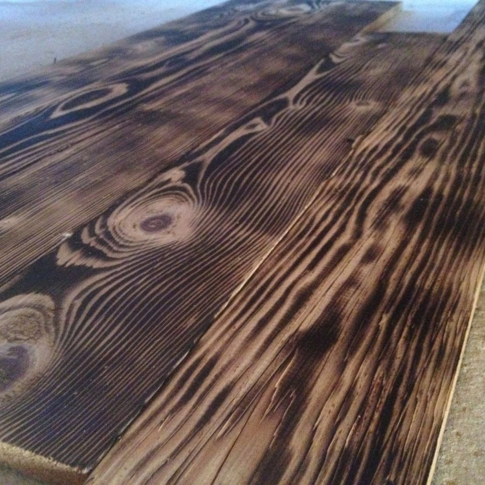 Dark-Flamed Hand-fired Pine