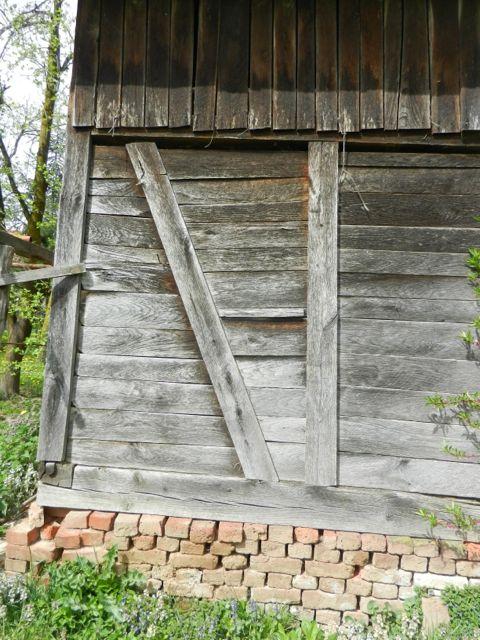 Weathered oak barn sidings
