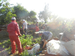Barn team clean up