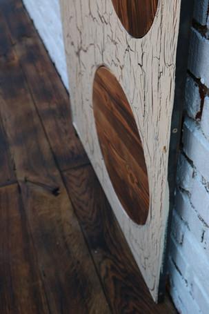 Crackled Pine Sliding Barn Door