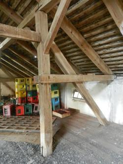 oak attic beams