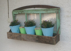 Weathered Barn Oak plant box