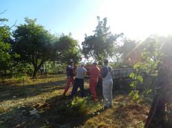 Team enjoying the sun