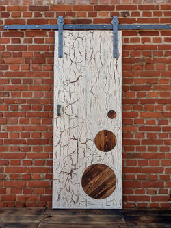 Crackled Oak Barn Sliding Door