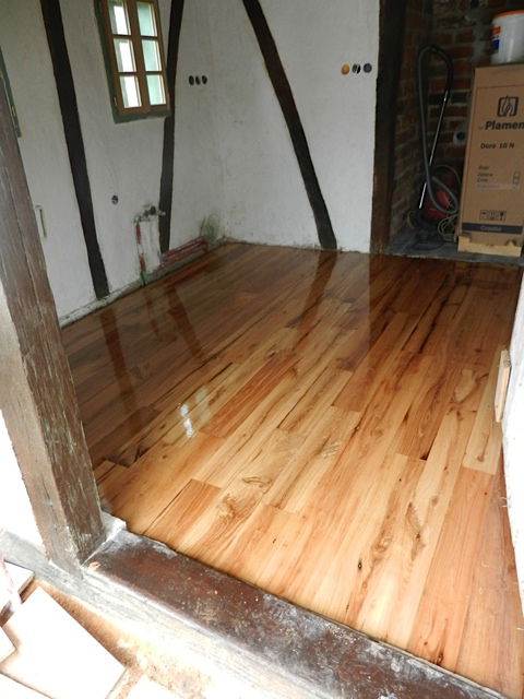 Rustic Oak Flooring installation