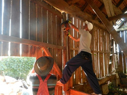 Trying to free a barn door