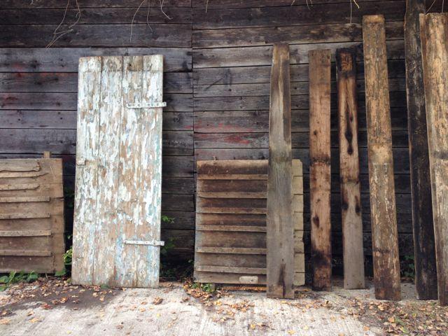 Painted peeling door