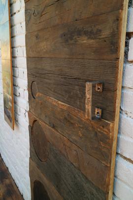 Weathered Oak Sliding Barn Door