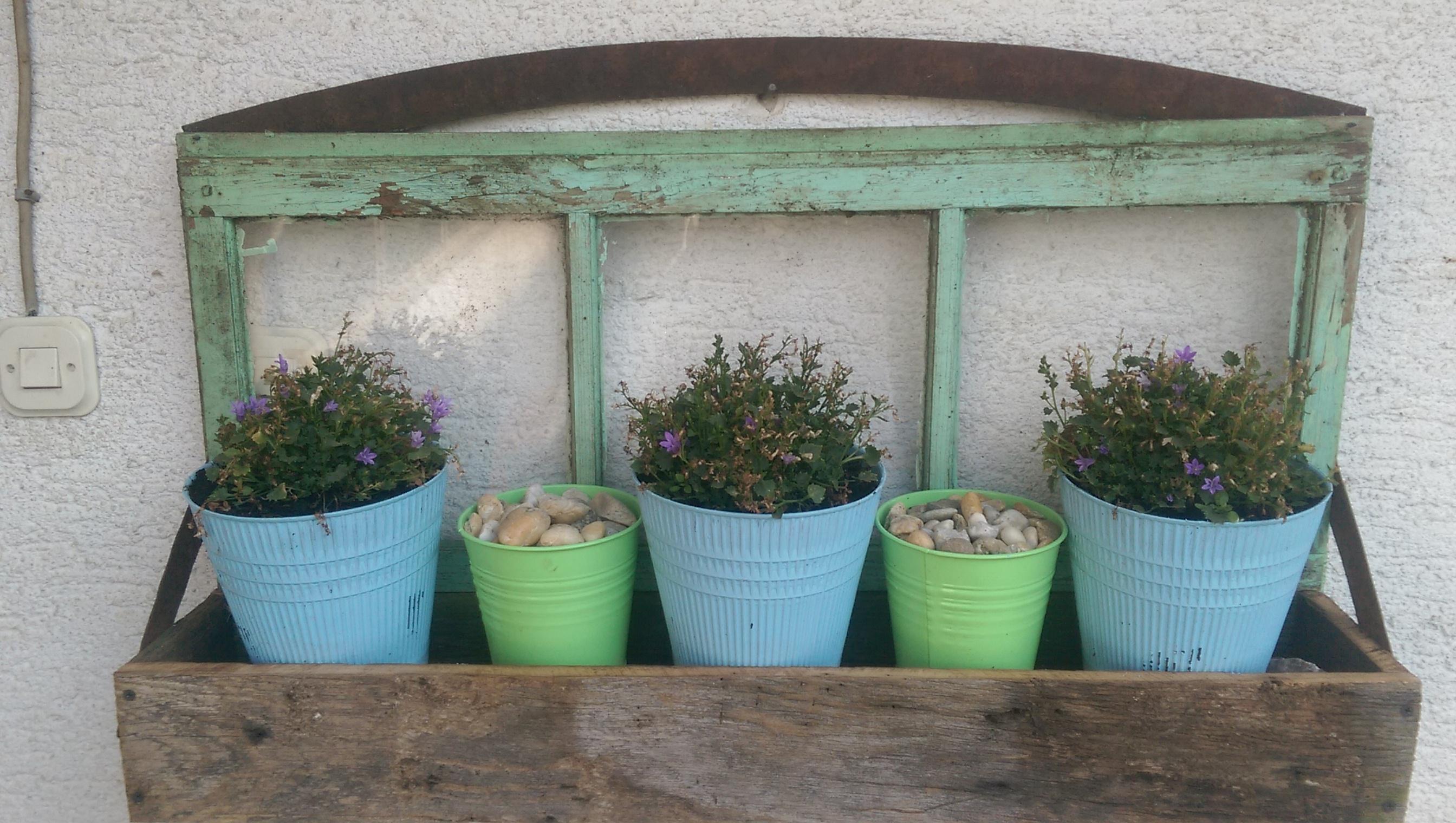 Weathered Oak barn board plant box