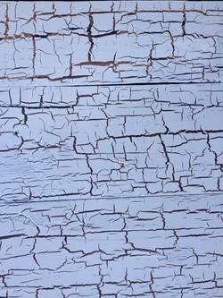 White Crackle Glazed Wood