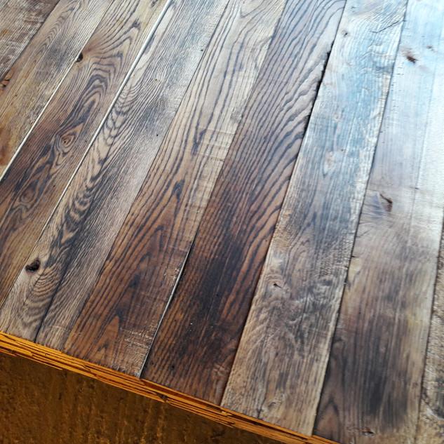 Hand Burnt Oak flooring