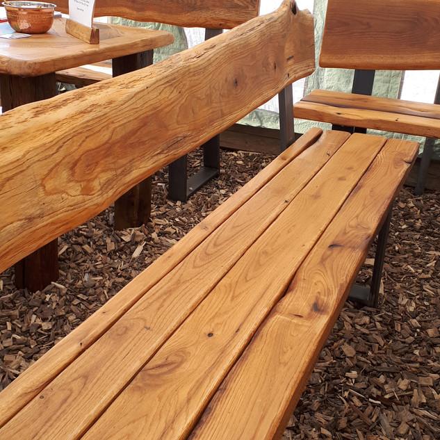 Barn Wood Garden Table & Bench Sets