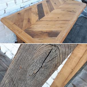 Chevron Oak Dining Table