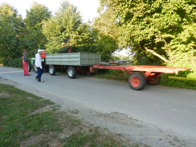 Tractor and double trailer