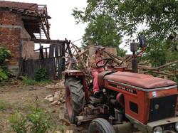 Barn crashing moments later