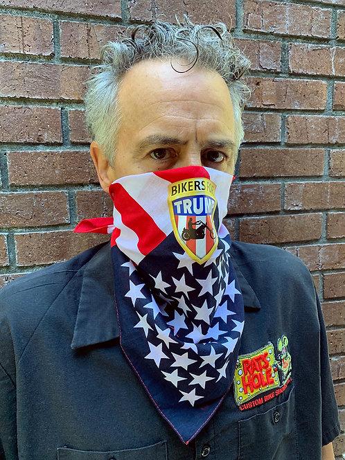Bikers for Trump Flag Bandanna