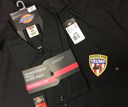 Bikers for Trump Dickies Twill Work Shirt