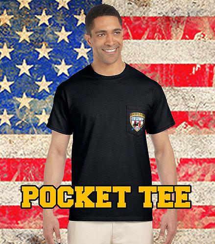 Pocket Tee 2020 Bikers for Trump (Black)