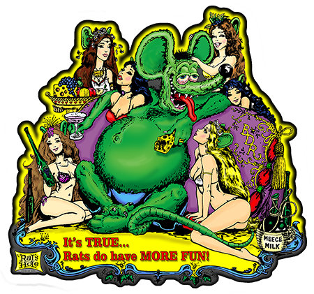 ST-4 It's True Sticker Rats Hole BDR & Girls 6x6""