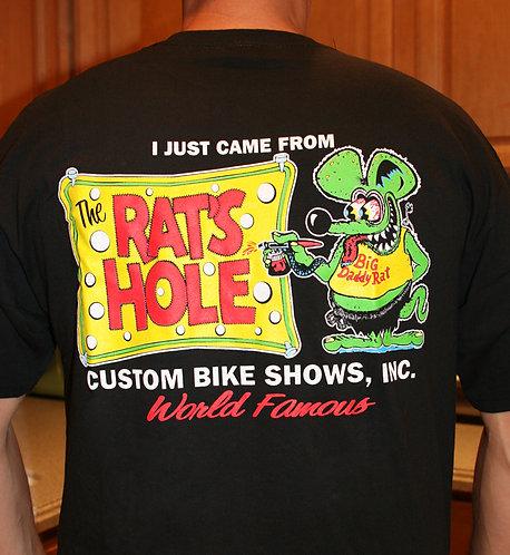 Rat-5 Rat's Hole Banner Black BDR Logo