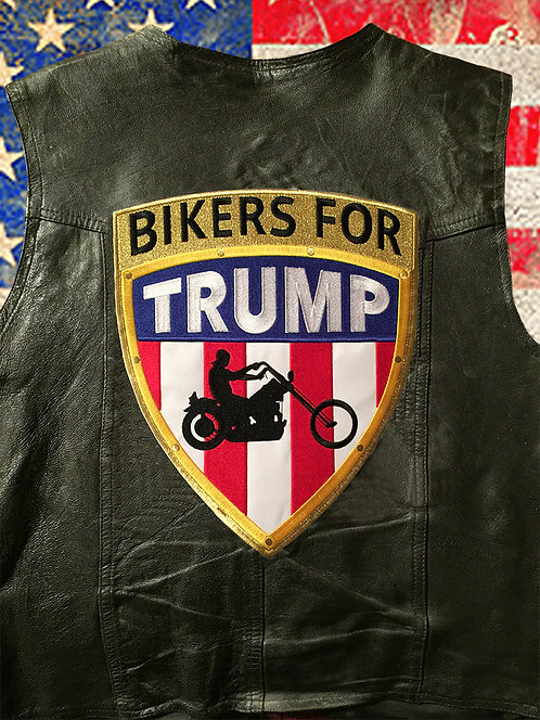 Bikers for Trump Large 3D patch