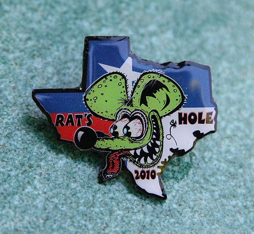 Texas 2010 Rat's Hole Custom Bike Show pin.