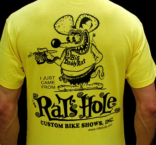 Rat-3 Rat's Hole Yellow World Famous BDR logo